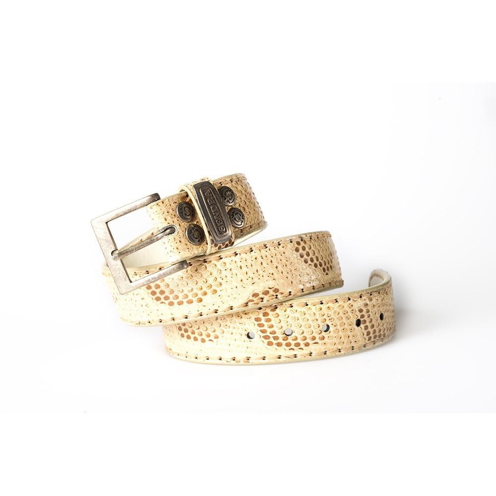 Compra en Noel Western Boots este cinturón Sendra Western de piel de serpiente de beige modelo 8563 con envíos gratis a la península 55431 - __[GALLERYITEM]__