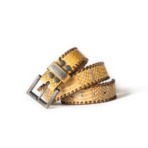 Compra en Noel Western Boots este cinturón Sendra Western de piel de serpiente blanco y marrón modelo 1009 con envíos gratis a la península 55573