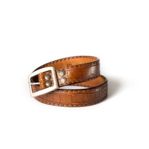 Compra en Noel Western Boots este cinturón Sendra Western de cuero con aspecto reptil modelo 879 con envíos gratis a la península 55575