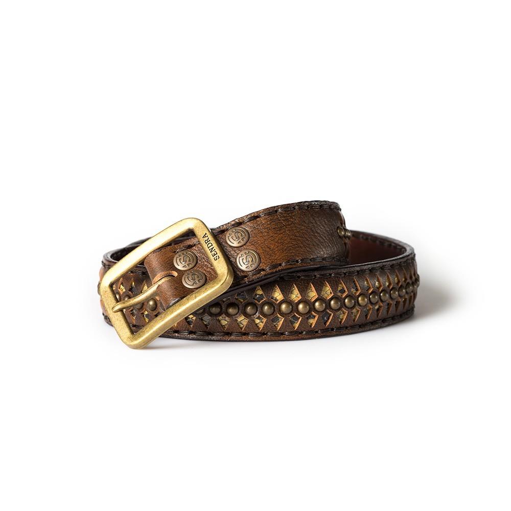Compra en Noel Western Boots este cinturón Sendra Western de piel de serpiente marrón y beige modelo 511 con envíos gratis a la península 55725 - __[GALLERYITEM]__