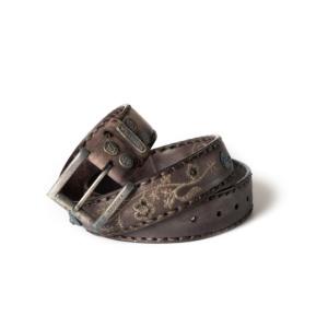 Compra en Noel Western Boots este cinturón Sendra Western de cuero olimpia marrón bordado de flores modelo 1063 con envíos gratis a la península 55730