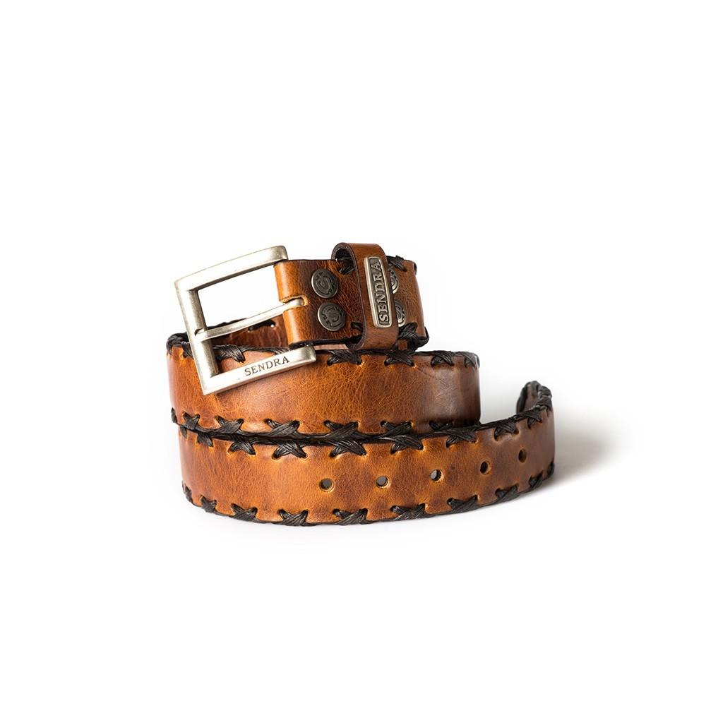 Compra en Noel Western Boots este cinturón Sendra Western de cuero marrón modelo 7336 con envíos gratis a la península 55737 - __[GALLERYITEM]__