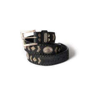 Compra en Noel Western Boots este cinturón Sendra Western de cuero y metal plata y negro modelo 8535 con envíos gratis a la península 55835