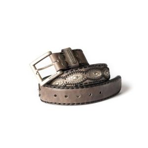 Compra en Noel Western Boots este cinturón Sendra Western de cuero y metal plata y antracita modelo 7606 con envíos gratis a la península 55837