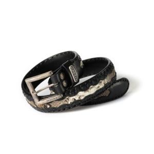 Compra en Noel Western Boots este cinturón Sendra Western de cuero y piel de serpiente negro y beige modelo 8347 con envíos gratis a la península 55838