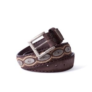Compra en Noel Western Boots este cinturón Sendra Western de serraje marron con piezas de metal modelo 7607 con envíos gratis a la península 55846
