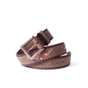 Compra en Noel Western Boots este cinturón Sendra Western en cuero dark taupe águila piel serpiente pitón modelo 1163 con envíos gratis a la península 55850