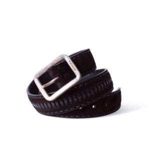 Compra en Noel Western Boots este cinturón Sendra Western en serraje negro con decoraciones en cuero trenzado negro modelo 1018 con envíos gratis a la península 55851