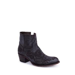 Compra en Noel Western Boots estos Botines Sendra moda para mujer de piel negro con bordado de flores modelo 14643 con envíos gratis a la península clave 56600