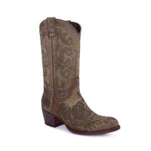 Compra en Noel Western Boots estos Botines Sendra moda para mujer en nobuck verde con bordado floral modelo 14605 con envíos gratis a la península clave 56602