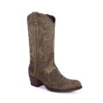Compra en Noel Western Boots estos Botines Sendra moda para mujer en nobuck verde con bordado floral modelo 14605 con envíos gratis a la península clave 56602 - __[GALLERYITEM]__
