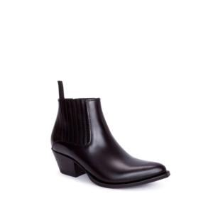 Compra en Noel Western Boots estos Botines Sendra Western para mujer de cuero negro liso con elásticos modelo 13965 con envíos gratis a la península clave 56603