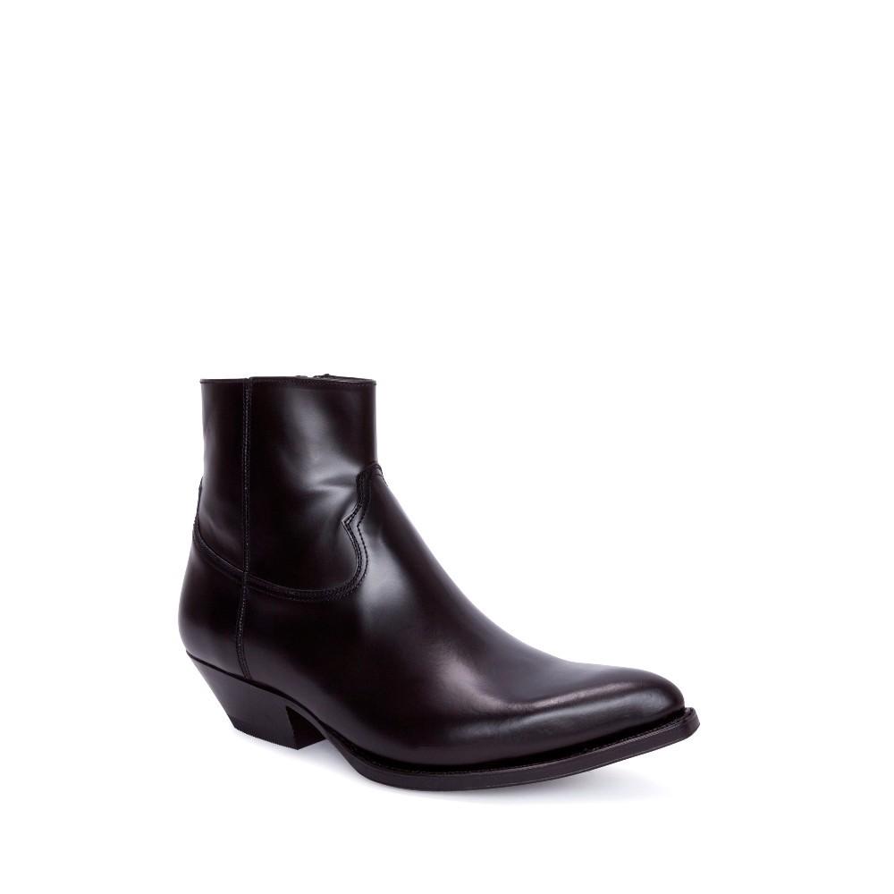 Compra en Noel Western Boots estos Botines Sendra Western para hombre de cuero negro monocolor con cremallera modelo 13659 con envíos gratis a la península clave 53047 -