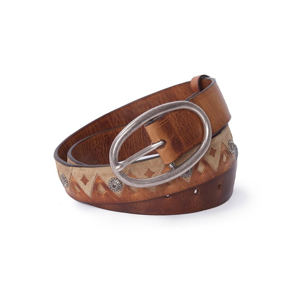 comprar popular 3be70 78f60 Cinturon Sendra 1217 para mujer de piel marrón y estilo étnico