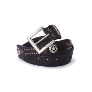 Compra en Noel Western Boots este cinturón Sendra Western ondulado de cuero negro y piel de serpiente negra modelo 1220 con envíos gratis a la península 58318