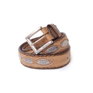 Compra en Noel Western Boots este cinturón Sendra Western de cuero y metal plata modelo 1201 con envíos gratis a la península 58322