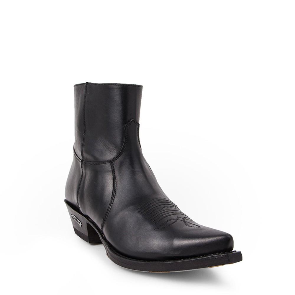 Compra en Noel Western Boots estos botines Sendra Western para hombre en cuero negro con cremallera modelo 7826 horma Cuervo con envíos gratis a península clave 58719 -