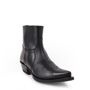 Compra en Noel Western Boots estos botines Sendra Western para hombre en cuero negro con cremallera modelo 7826 horma Cuervo con envíos gratis a península clave 58719