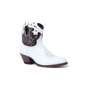 Compra en Noel Western Boots estos Botines Sendra moda para Mujer en cuero blanco y cobre con cremallera modelo 15107 con envíos gratis a península clave 58828