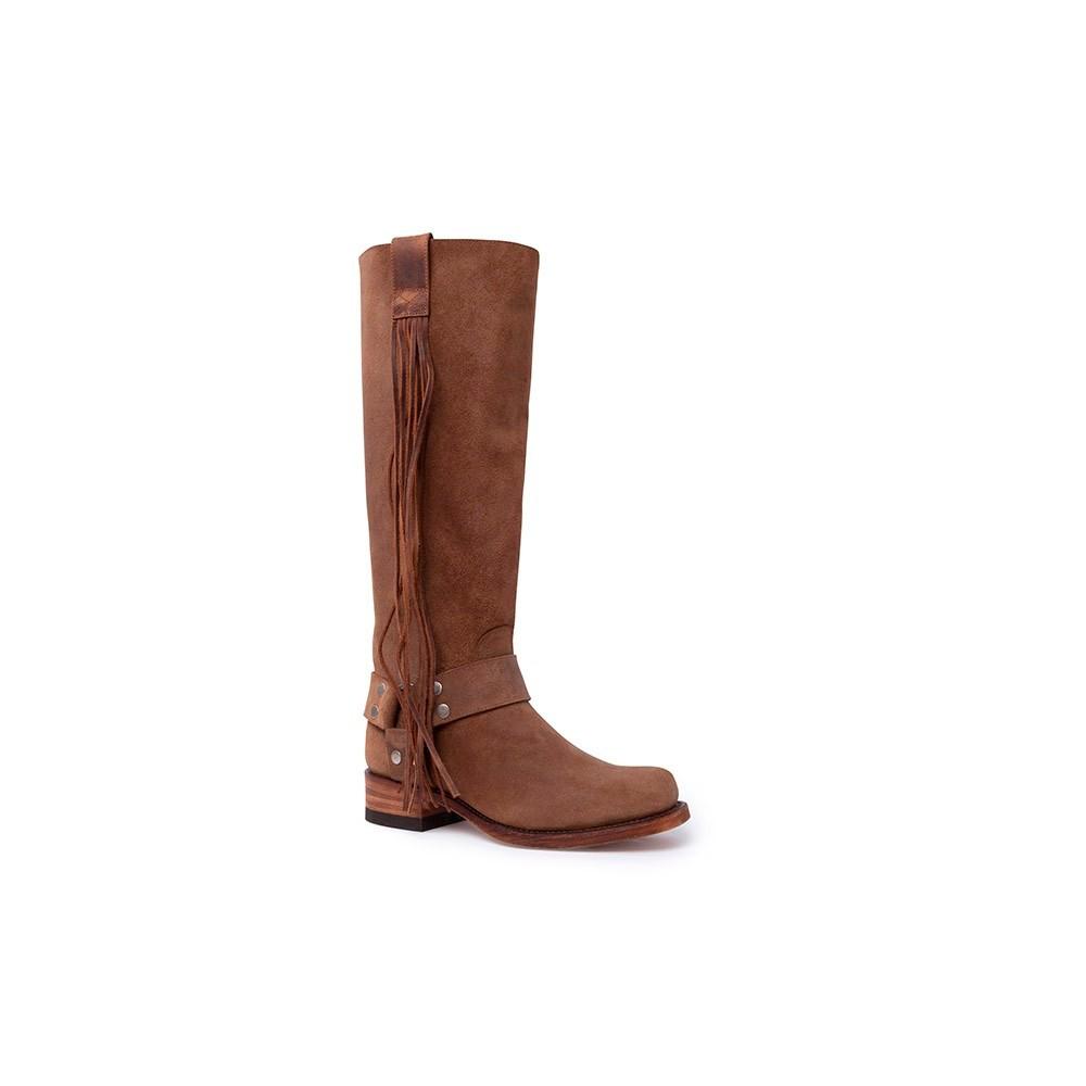 b3a387ac8 Botas Sendra 15248 84 Moda para mujer en serraje marrón caña alta