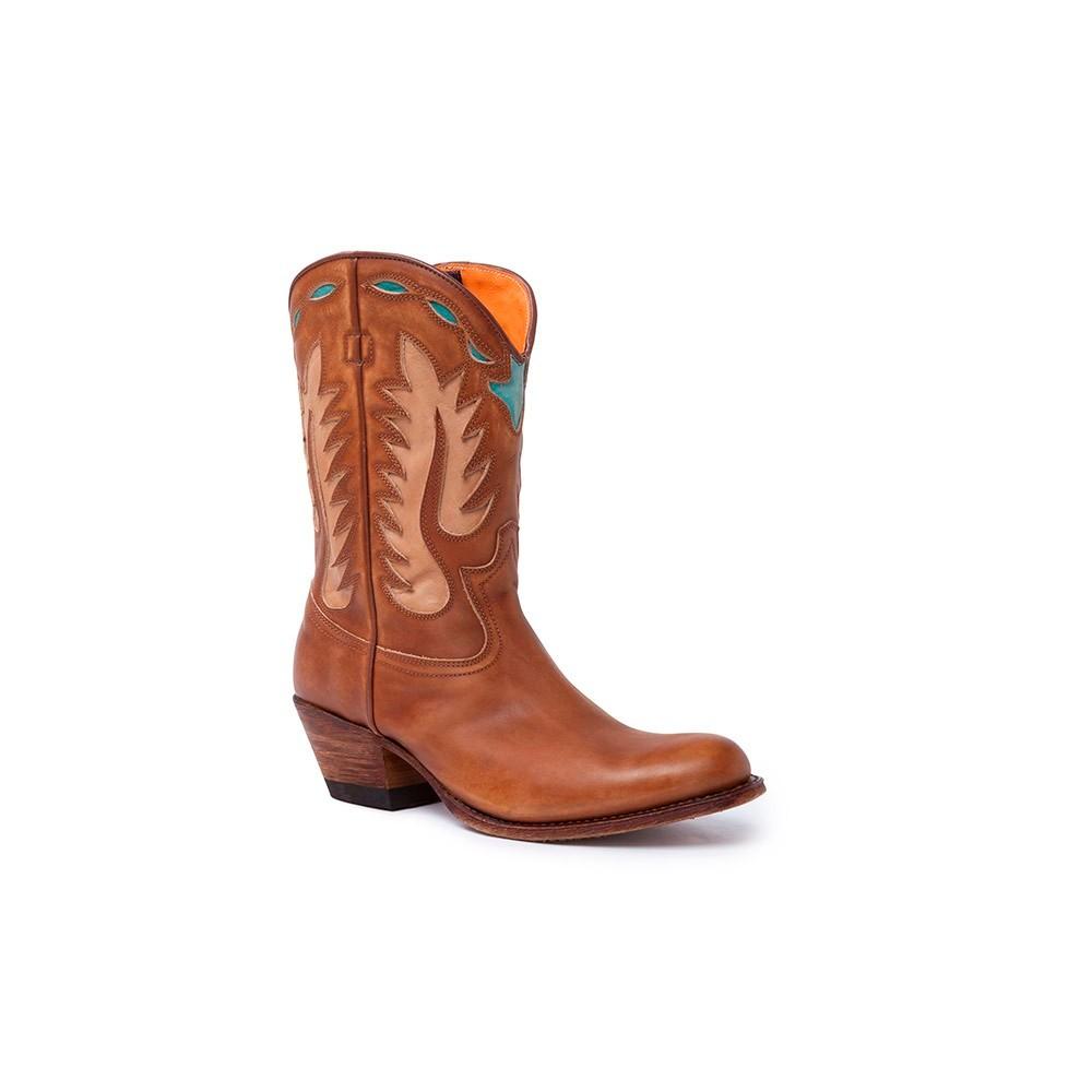 Compra en Noel Western Boots estas botas Sendra 15222 Moda para mujer marrón llamas con envíos gratis a la península 58832 -