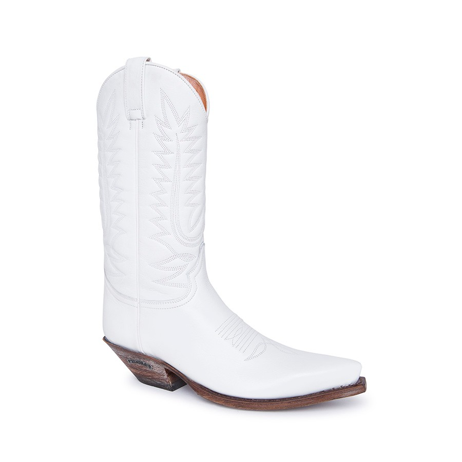 Compra en Noel Western Boots estas botas Sendra Western para Mujer en cuero blanco modelo 14822 horma Cuervo con envíos gratis a península clave 61154 -