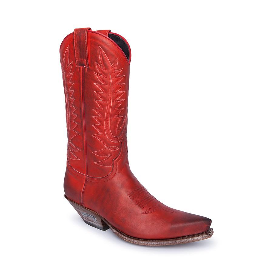 Compra en Noel Western Boots estas botas Sendra Western para Mujer en cuero rojo modelo 14822 horma Cuervo con envíos gratis a península clave 61155 -
