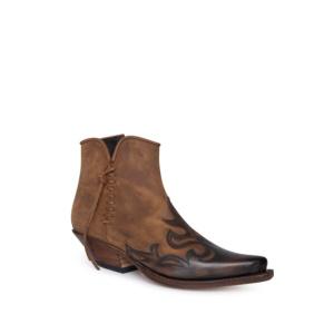 Compra en Noel Western Boots estos botines Sendra Western para mujer de cuero marrón con cremallera y decoraciones con envíos gratis a la península clave 61158
