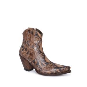 Compra en Noel Western Boots estos botines Sendra Western para mujer en cuero con aspecto de piel de serpiente con cremallera lateral modelo 15521 horma Gorka y tacón alto con envíos gratis a península clave 61159