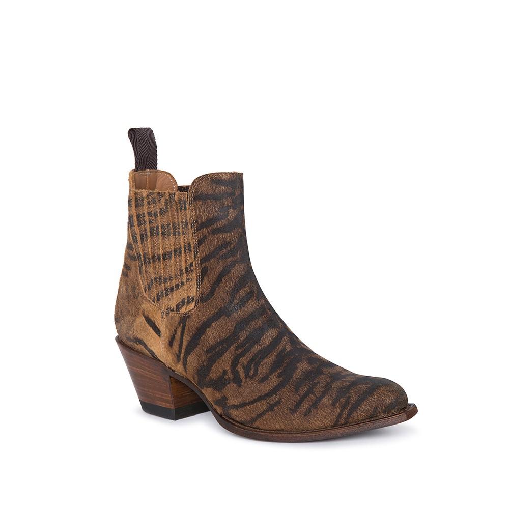 Compra en Noel Western Boots estos Botines Sendra moda para Mujer en serraje con estampado de tigre con elásticos modelo 15978 con envíos gratis a península clave 61160 -