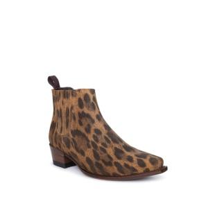 Compra en Noel Western Boots estos Botines Sendra moda para Mujer en serraje con estampado de leopardo con elásticos modelo 14702 con envíos gratis a península clave 61161