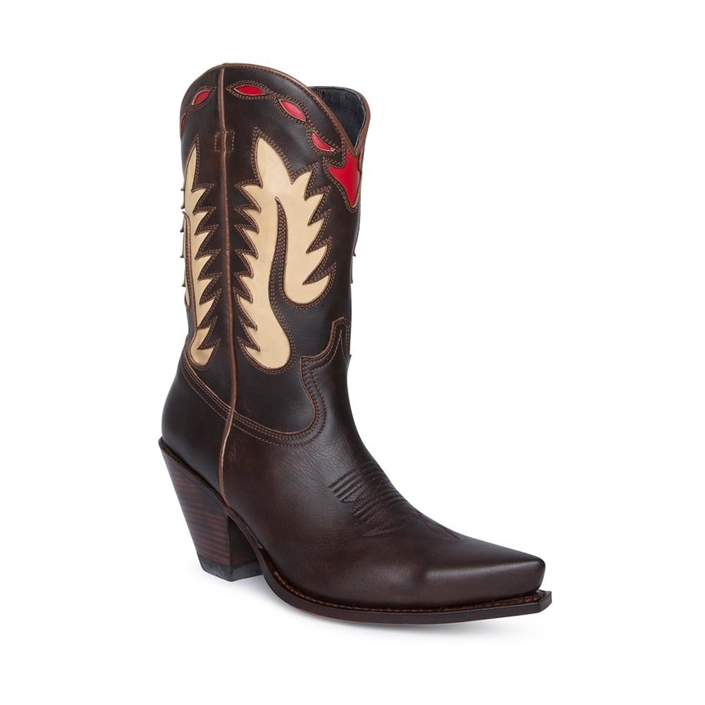 869829ad6ee Botas Sendra 15351 Gorka Western para mujer en cuero marrón y tacón alto