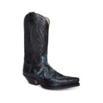 Compra en Noel Western Boots estas botas Sendra Western para hombre de cuero negro y piel de serpiente modelo 7429 con envíos gratis a la península 61168 - __[GALLERYITEM]__