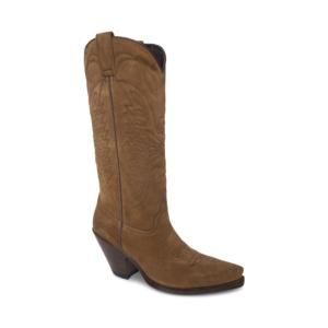 Compra en Noel Western Boots estas botas Sendra Western para mujer en serraje taupe y tacón alto modelo 7082 horma Gorca con envíos gratis a península clave 61396