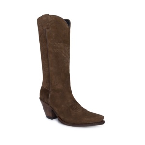 Compra en Noel Western Boots estas botas Sendra Western para mujer en serraje marrón y tacón alto modelo 7082 horma Gorka con envíos gratis a península clave 61396
