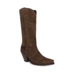Compra en Noel Western Boots estas botas Sendra Western para mujer en serraje marrón y tacón alto modelo 7082 horma Gorka con envíos gratis a península clave 61396 - __[GALLERYITEM]__
