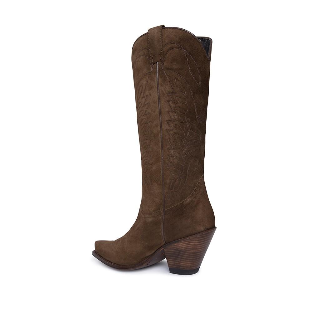 0a5cf22a Botas Sendra 7082 Gorka Moda para mujer en serraje marrón y tacón alto