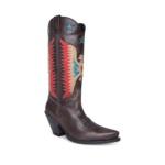 Compra en Noel Western Boots estas botas Sendra Western para mujer en cuero gris con águila roja y tacón alto modelo 16220 horma Gorka con envíos gratis a península clave 61397 - __[GALLERYITEM]__
