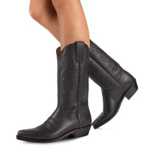 Compra en Noel Western Boots estas botas Sendra Western para Mujer en cuero negro con pespuntes modelo 2605 horma Red con envíos gratis a península clave 62471