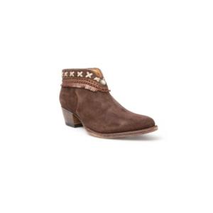 Compra en Noel Western Boots estos Botines Sendra Moda para mujer de serraje marrón con pasados y flecos modelo 12434 con envíos gratis a la península 7702