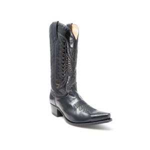 Compra en Noel Western Boots estas Botas Sendra Western para hombre de cuero negro con pespuntes modelo 2073 con envíos gratis a la península 7711