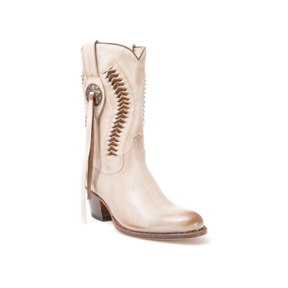 Compra en Noel Western Boots estas Botas Sendra Western para mujer de cuero taupe con cinta modelo 13395 con envíos gratis a la península 7713 -