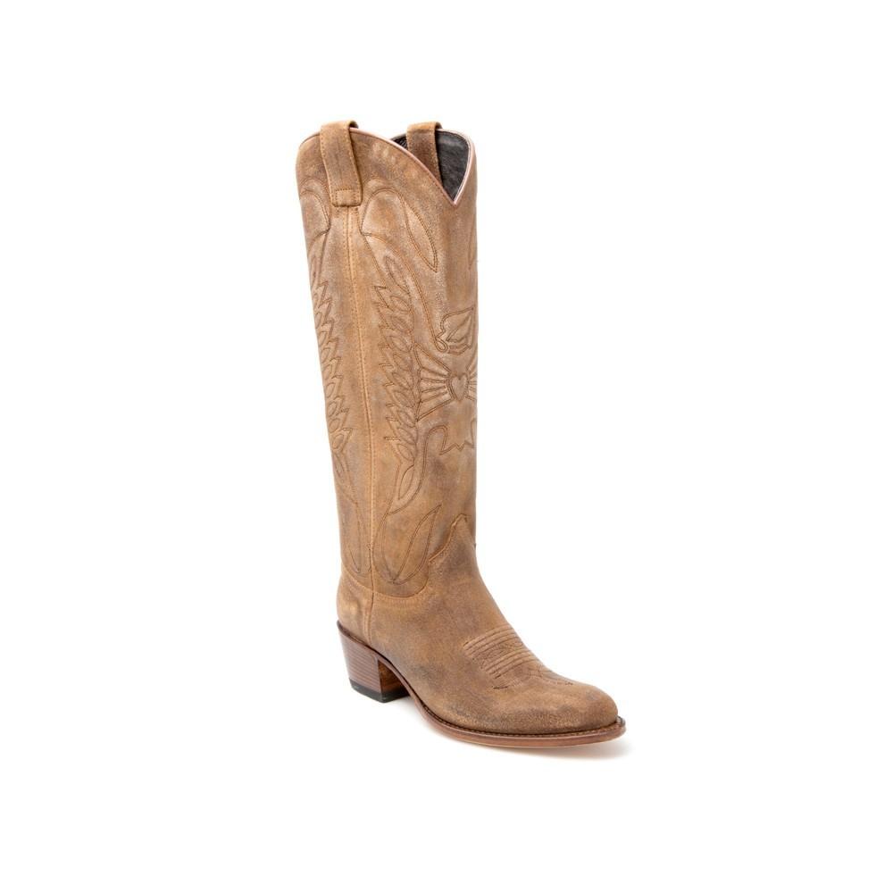 Compra en Noel Western Boots estas Botas Sendra Western para mujer de serraje gris con pespuntes modelo 8840 con envíos gratis a la península 7714 -
