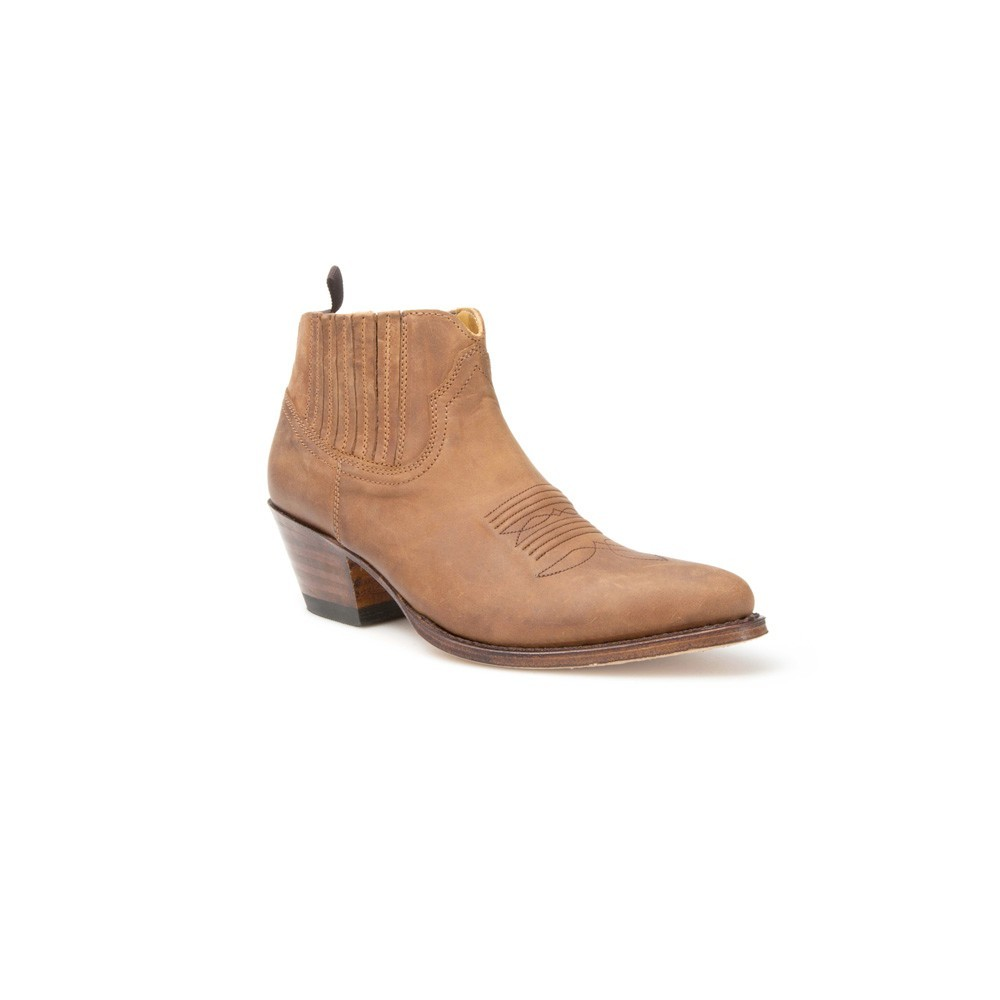 Compra en Noel Western Boots estos Botines Sendra Western para mujer de cuero marrón con elásticos modelo 12917 con envíos gratis a la península 7715 -