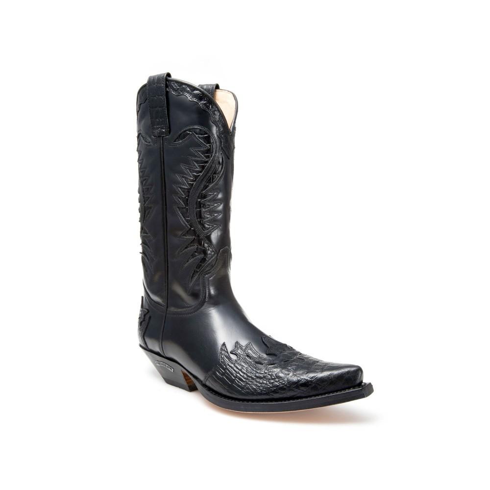 Compra en Noel Western Boots estas Botas Sendra Western para hombre de Cuero Negro modelo 2535 envíos gratis a península 783 -