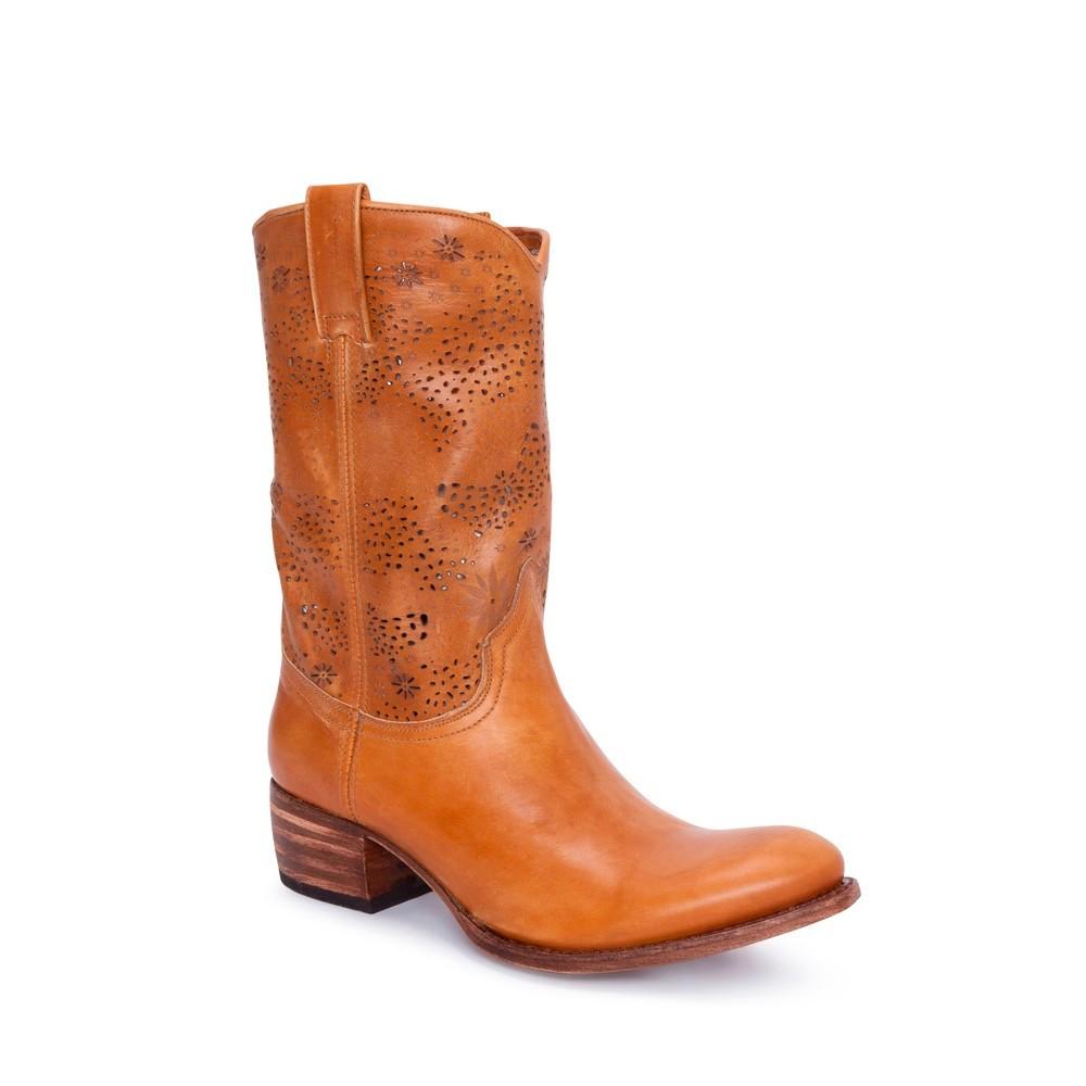 Compra en Noel Western Boots estas Botas Sendra moda para mujer de piel marron con caña perforada modelo 9581 con envíos gratis a la península clave 7916 -