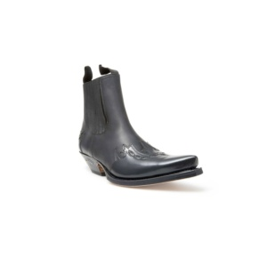 Compra en Noel Western Boots estos Botines Sendra Western para hombre de cuero negro con elásticos modelo 5433 con envíos gratis a la península 8010
