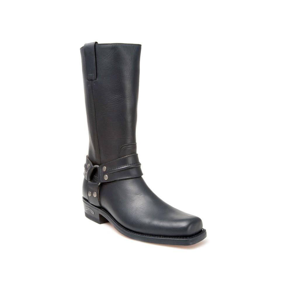 Compra en Noel Western Boots estas Botas Sendra moteras para hombre de cuero negro con arnes modelo 2380 con envíos gratis a península 809 -