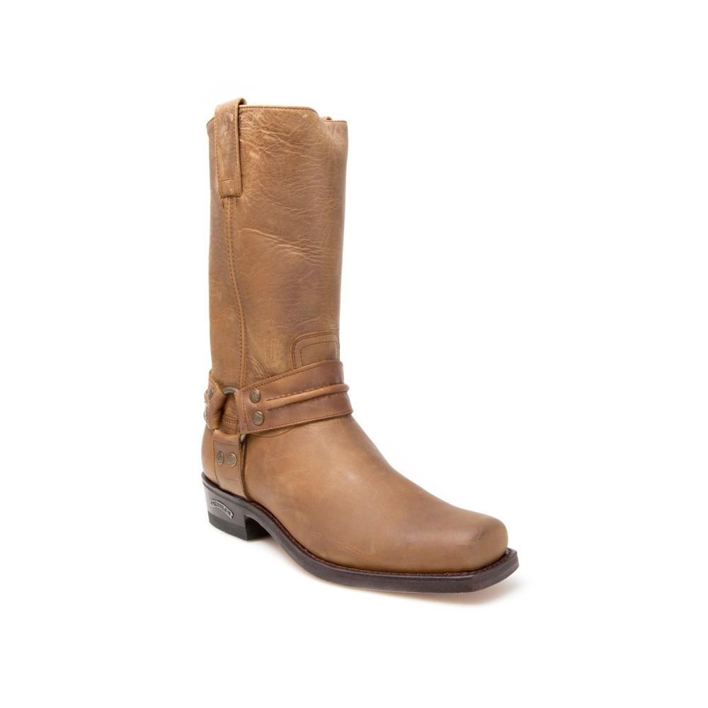 Compra en Noel Western Boots estas Botas Sendra moteras para hombre de cuero marrón con arnes modelo 2380 con envíos gratis a península 810 -