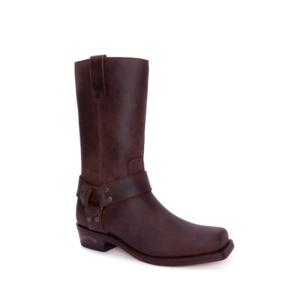 Compra en Noel Western Boots estas Botas Sendra Biker para hombre de cuero marrón con arnés fijo modelo 1918 con envíos gratis a la península 2509
